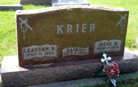 KRIER, IRENE M. - Minnehaha County, South Dakota | IRENE M. KRIER - South Dakota Gravestone Photos