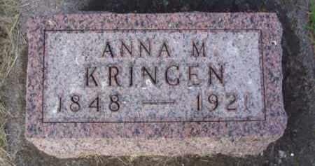 HILMERS KRINGEN, ANNA M. - Minnehaha County, South Dakota | ANNA M. HILMERS KRINGEN - South Dakota Gravestone Photos