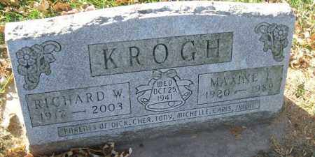 KROGH, MAXINE T. - Minnehaha County, South Dakota | MAXINE T. KROGH - South Dakota Gravestone Photos