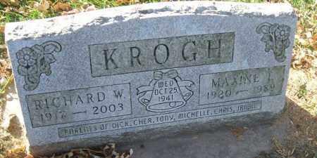 KROGH, RICHARD W. - Minnehaha County, South Dakota   RICHARD W. KROGH - South Dakota Gravestone Photos