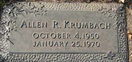 KRUMBACH, ALLEN R. - Minnehaha County, South Dakota | ALLEN R. KRUMBACH - South Dakota Gravestone Photos