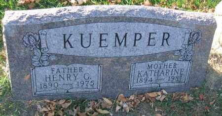 KUEMPER, HENRY G. - Minnehaha County, South Dakota | HENRY G. KUEMPER - South Dakota Gravestone Photos