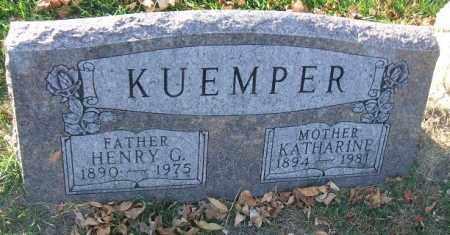 KUEMPER, HENRY G. - Minnehaha County, South Dakota   HENRY G. KUEMPER - South Dakota Gravestone Photos