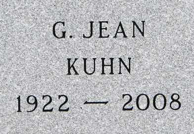 KUHN, G. JEAN - Minnehaha County, South Dakota | G. JEAN KUHN - South Dakota Gravestone Photos
