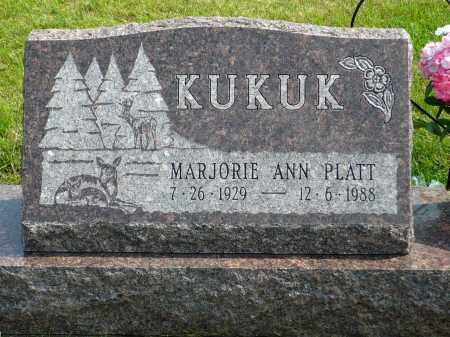 PLATT KUKUK, MARJORIE ANN - Minnehaha County, South Dakota | MARJORIE ANN PLATT KUKUK - South Dakota Gravestone Photos