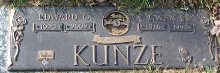 KUNZE, GWEN I. - Minnehaha County, South Dakota | GWEN I. KUNZE - South Dakota Gravestone Photos