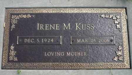 KUSS, IRENE M. - Minnehaha County, South Dakota | IRENE M. KUSS - South Dakota Gravestone Photos