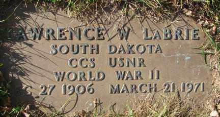LABRIE, LAWRENCE W. (WWII) - Minnehaha County, South Dakota | LAWRENCE W. (WWII) LABRIE - South Dakota Gravestone Photos