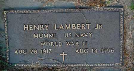 LAMBERT, HENRY JR. (WW II) - Minnehaha County, South Dakota | HENRY JR. (WW II) LAMBERT - South Dakota Gravestone Photos