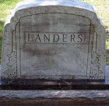 LANDERS, FAMILY MARKER - Minnehaha County, South Dakota   FAMILY MARKER LANDERS - South Dakota Gravestone Photos