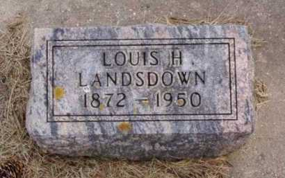 LANDSDOWN, LOUIS H. - Minnehaha County, South Dakota | LOUIS H. LANDSDOWN - South Dakota Gravestone Photos