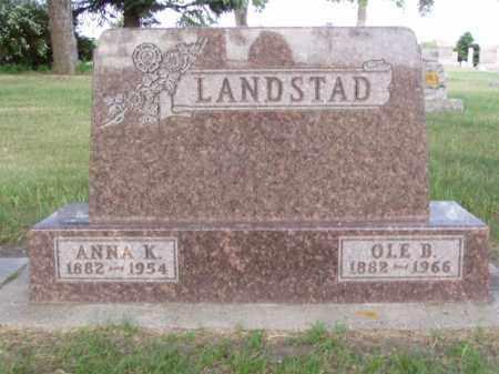 LANDSTAD, ANNA SIVERSDATTER - Minnehaha County, South Dakota | ANNA SIVERSDATTER LANDSTAD - South Dakota Gravestone Photos