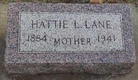 LANE, HATTIE L. - Minnehaha County, South Dakota | HATTIE L. LANE - South Dakota Gravestone Photos
