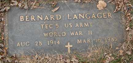 LANGAGER, BERNARD (WWII) - Minnehaha County, South Dakota | BERNARD (WWII) LANGAGER - South Dakota Gravestone Photos