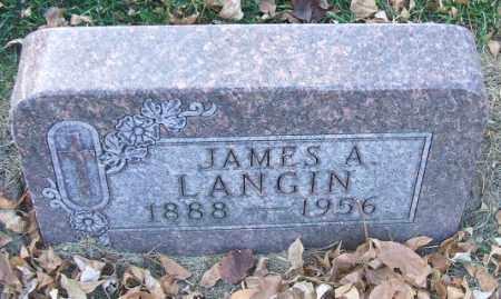 LANGIN, JAMES A. - Minnehaha County, South Dakota | JAMES A. LANGIN - South Dakota Gravestone Photos