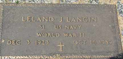 LANGIN, LELAND J. (WWII) - Minnehaha County, South Dakota | LELAND J. (WWII) LANGIN - South Dakota Gravestone Photos