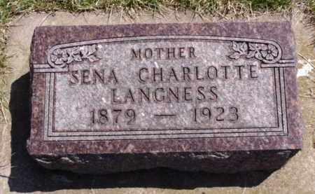 LANGNESS, SENA CHARLOTTE - Minnehaha County, South Dakota | SENA CHARLOTTE LANGNESS - South Dakota Gravestone Photos