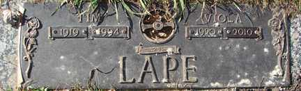 LAPE, TIM - Minnehaha County, South Dakota | TIM LAPE - South Dakota Gravestone Photos