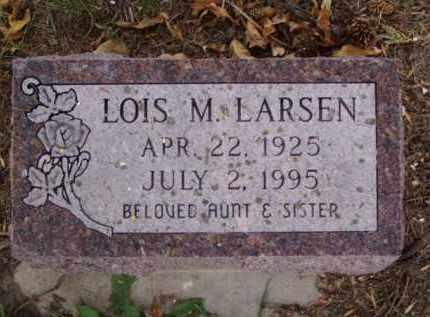 LARSEN, LOIS M. - Minnehaha County, South Dakota   LOIS M. LARSEN - South Dakota Gravestone Photos