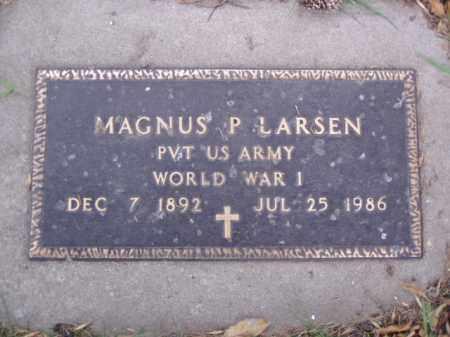 LARSEN, MAGNUS P. - Minnehaha County, South Dakota | MAGNUS P. LARSEN - South Dakota Gravestone Photos