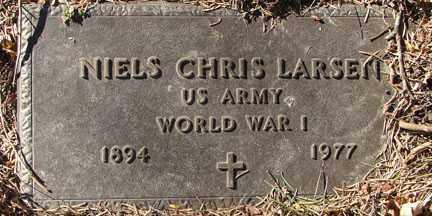 LARSEN, NIELS CHRIS - Minnehaha County, South Dakota | NIELS CHRIS LARSEN - South Dakota Gravestone Photos