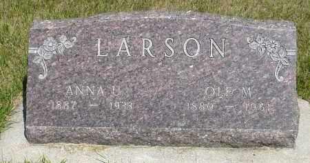 LARSON, OLE M. - Minnehaha County, South Dakota | OLE M. LARSON - South Dakota Gravestone Photos