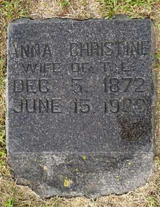 LARSON, ANNA CHRISTINE - Minnehaha County, South Dakota | ANNA CHRISTINE LARSON - South Dakota Gravestone Photos