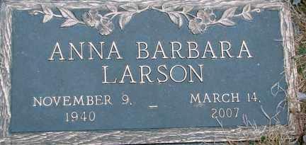 LARSON, ANNA BARBARA - Minnehaha County, South Dakota | ANNA BARBARA LARSON - South Dakota Gravestone Photos