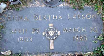 LARSON, ANNA BERTHA - Minnehaha County, South Dakota | ANNA BERTHA LARSON - South Dakota Gravestone Photos