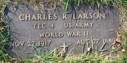 LARSON, CHARLES R. - Minnehaha County, South Dakota   CHARLES R. LARSON - South Dakota Gravestone Photos