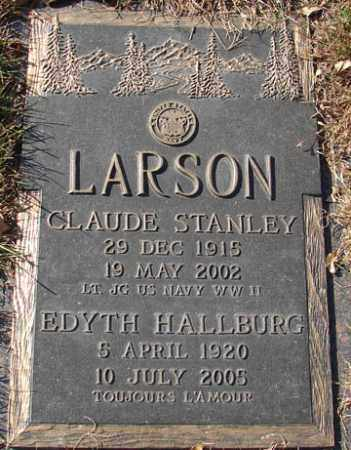 LARSON, CLAUDE STANLEY - Minnehaha County, South Dakota | CLAUDE STANLEY LARSON - South Dakota Gravestone Photos