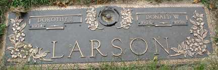 LARSON, DONALD W. - Minnehaha County, South Dakota | DONALD W. LARSON - South Dakota Gravestone Photos