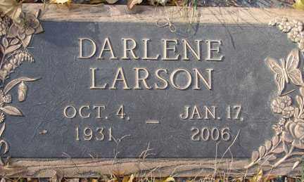 LARSON, DARLENE - Minnehaha County, South Dakota | DARLENE LARSON - South Dakota Gravestone Photos