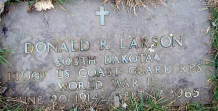 LARSON, DONALD R. (WWII) - Minnehaha County, South Dakota | DONALD R. (WWII) LARSON - South Dakota Gravestone Photos