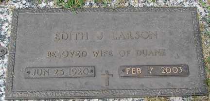 LARSON, EDITH J. - Minnehaha County, South Dakota | EDITH J. LARSON - South Dakota Gravestone Photos