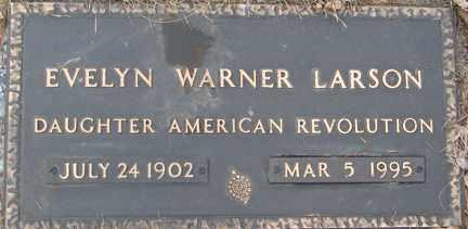 WARNER LARSON, EVELYN - Minnehaha County, South Dakota | EVELYN WARNER LARSON - South Dakota Gravestone Photos