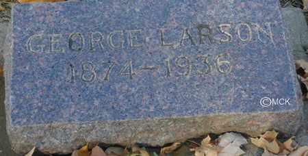 LARSON, GEORGE - Minnehaha County, South Dakota | GEORGE LARSON - South Dakota Gravestone Photos
