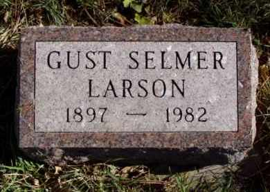 LARSON, GUST SELMER - Minnehaha County, South Dakota | GUST SELMER LARSON - South Dakota Gravestone Photos