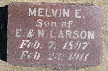 LARSON, MELVIN E. - Minnehaha County, South Dakota | MELVIN E. LARSON - South Dakota Gravestone Photos