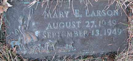 LARSON, MARY E. - Minnehaha County, South Dakota | MARY E. LARSON - South Dakota Gravestone Photos