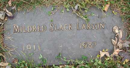 SLACK LARSON, MILDRED - Minnehaha County, South Dakota | MILDRED SLACK LARSON - South Dakota Gravestone Photos