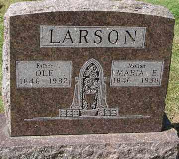 LARSON, OLE - Minnehaha County, South Dakota   OLE LARSON - South Dakota Gravestone Photos