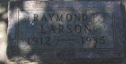 LARSON, RAYMOND F. - Minnehaha County, South Dakota   RAYMOND F. LARSON - South Dakota Gravestone Photos