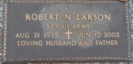 LARSON, ROBERT N. (MILITARY) - Minnehaha County, South Dakota   ROBERT N. (MILITARY) LARSON - South Dakota Gravestone Photos
