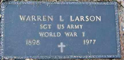 LARSON, WARREN L. (WWI) - Minnehaha County, South Dakota | WARREN L. (WWI) LARSON - South Dakota Gravestone Photos