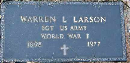 LARSON, WARREN L. (WWI) - Minnehaha County, South Dakota | WARREN L. (WWI) LARSON - South Dakota Gravestone Photos