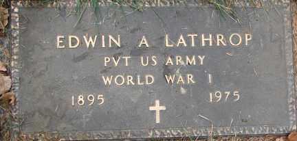 LATHROP, EDWIN A. (WWI) - Minnehaha County, South Dakota | EDWIN A. (WWI) LATHROP - South Dakota Gravestone Photos