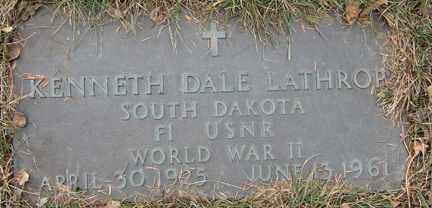 LATHROP, KENNETH DALE (WWII) - Minnehaha County, South Dakota | KENNETH DALE (WWII) LATHROP - South Dakota Gravestone Photos