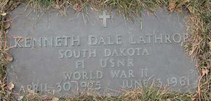 LATHROP, KENNETH DALE (WWII) - Minnehaha County, South Dakota | KENNETH DALE (WWII) LATHROP - South Dakota Gravestone Photos
