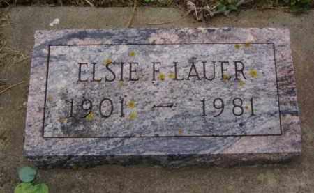 LAUER, ELSIE F. - Minnehaha County, South Dakota | ELSIE F. LAUER - South Dakota Gravestone Photos
